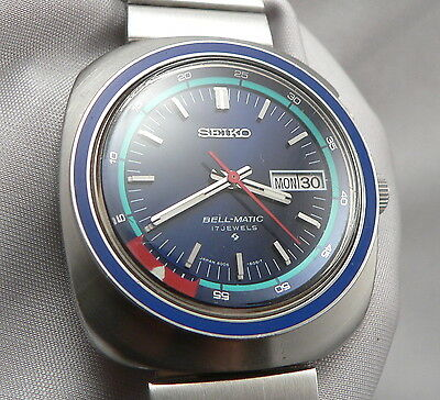 Vintage SEIKO BELL-MATIC Automatic Men's WRISTWATCH Wrist Watch Stainless Steel