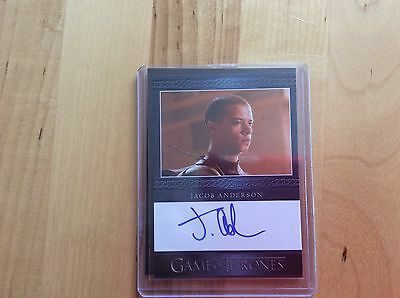 Game of thrones autograph card Jacob Anderson
