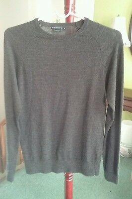 French Connection Men's 100% Wool  Sweater Size S - Charcoal  (V5)