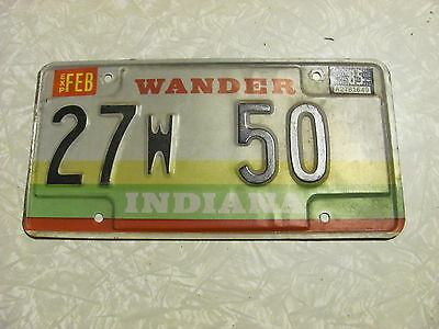 1984 INDIANA LICENSE PLATE original paint FREE SHIPPING