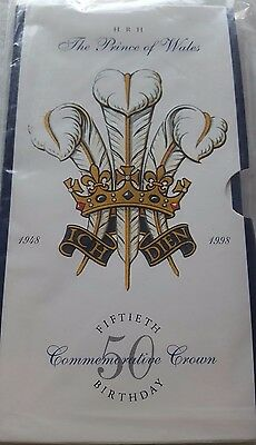 HRH The Prince of Wales 50th Fiftieth Birthday Commemorative Crown (sealed)