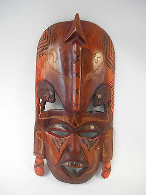 Jambo Kenya African Hand Carved Wooden Mask
