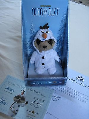 NEW Limited edition Compare the Meerkat baby Oleg Olaf toy Disney Frozen