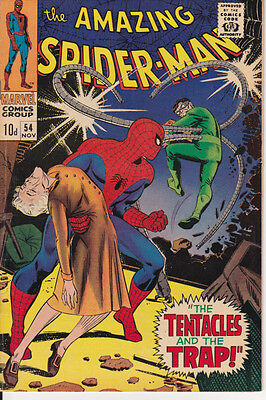 AMAZING SPIDER-MAN #54 [FN+] 1967 (LEE/ROMITA) Scarce Silver Marvel