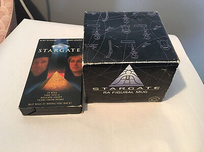 Stargate Anubis Egyption Figural Mug And Free Stargate Vhs Tape Movie