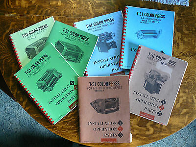 ABDick/T-51 Townsend Parts/Installation/Operation Manuals - 7 Complete Editions!
