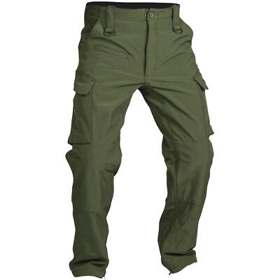 Mil-Tec Explorer Soft Shell Pants Expedition Mens Lightweight Trousers Olive