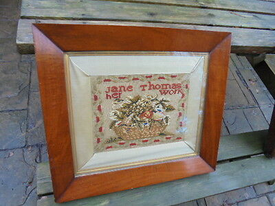 Lovely Framed And Glazed Victorian Sampler Top Quality From House Clearance