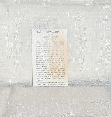 Information Card  Number 25  for  Joseph Howe  Famous Canadians Tea Premium