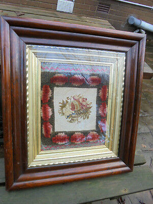 Antique  Framed And Glazed Victorian Sampler Top Quality From House Clearance