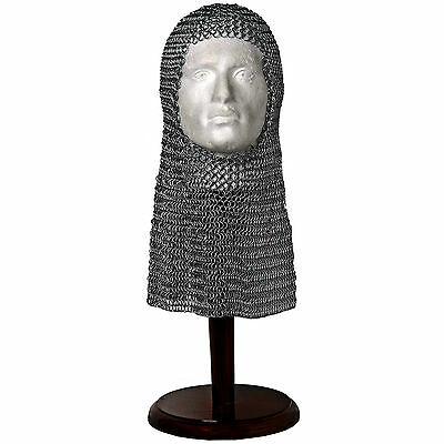 Superb Full Size Replica Chain Mail Head Piece/Armour/Coif/Museum/Re-Enactment