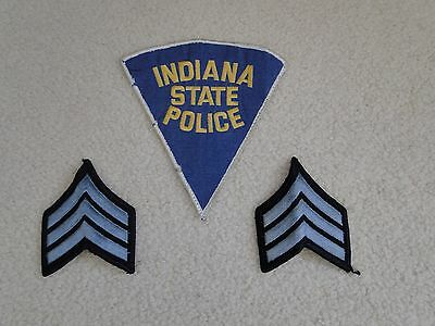 Indiana State Police Sergeant Patch Chevrons  Insignia