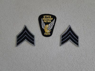 Ohio State Highway Patrol Police Sergeant Chevrons Patch Insignia