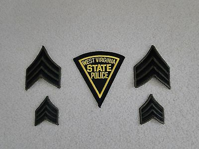 West Virginia State Police Patch Sergeant Chevrons Insignia Set