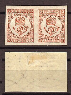 Hungary Scott P2 Newspaper Stamp Official REPRINT pair