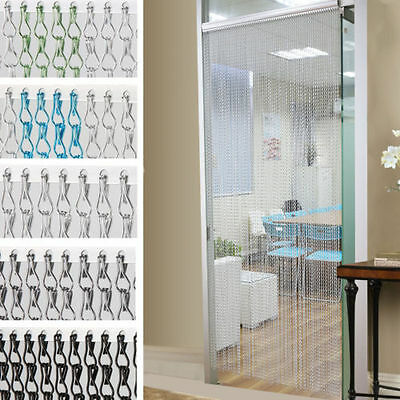 Aluminium Metal Chain Fly Pest Insect Door Screen Curtain Control 5 Colors