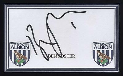 Ben Foster signed WBA crested card.