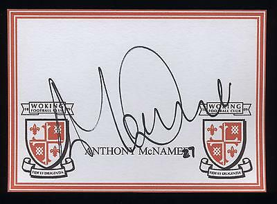 Anthony McNamee signed Woking crested card.