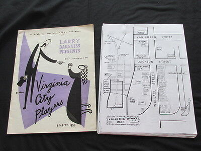 MONTANA Virginia City Players Program - 1958 and copied pages of same