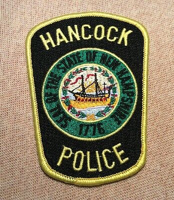 NH Hancock New Hampshire Police Patch
