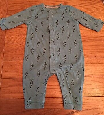 Baby Boy Cute Lightning Bolt Sleep Suit From Mamas&Papas 0-3 Months 100% Cotton