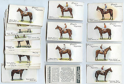 John Player's 'DERBY AND GRAND NATIONAL WINNERS' Cigarette Cards 42/50 VGC