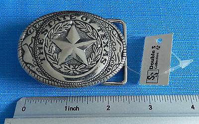 The State of Texas and Star Belt Buckle **NEW**