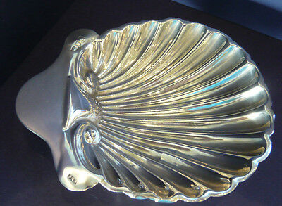 Antique Solid Silver Scallop Shell Butter Dish 1896 Josiah Williams & Co
