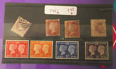 British Postage stamps Mixed Used Lot Queen Victoria King George VI and S Africa