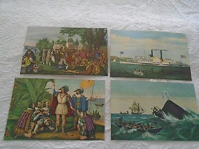 17   Currier & Ives Scenes     Cut From 1956 & 1957 Calendars