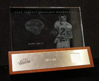 2003 Playoff Absolute Memorabilia Jersey, JIMMY SMITH Etched Glass Collectible