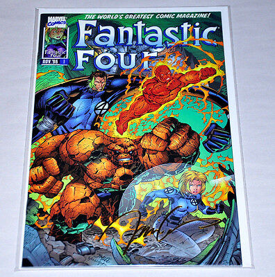Fantastic Four 1 22K Gold Jim Lee Signature Variant COA NM