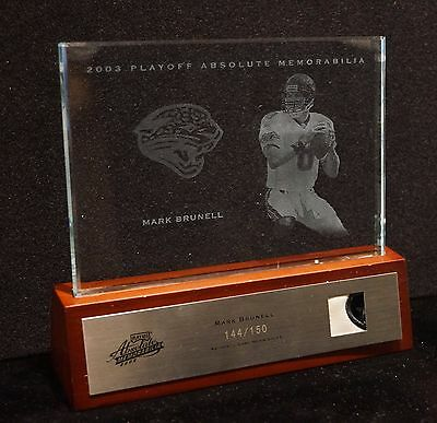 2003 Playoff Absolute Memorabilia, MARK BRUNELL Jersey, Etched Glass Collectible