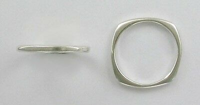 925 Sterling Silver Square Band Ring, Choice of Size 5-9