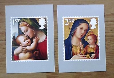 Set of 8 postcards of Royal Mail 2013 Christmas stamps (please see all photos)