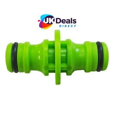"""Garden Hose Pipe Male Adapter Connector Connect 2 Hoses 1/2""""  2way"""
