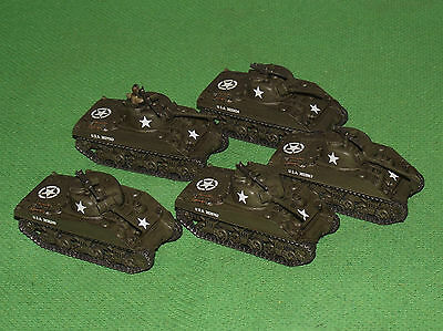 Well Painted 15mm Flames of War US M4A3 Sherman Platoon