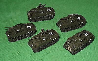 Well Painted 15mm Flames of War US M4A3 Late Sherman Platoon