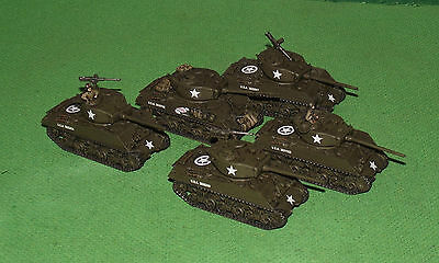 Well Painted 15mm Flames of War US M4A3 76mm Sherman Platoon