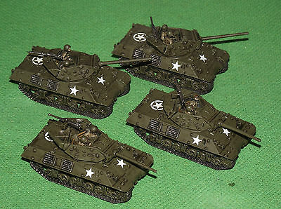 Well Painted 15mm Flames of War US M10 Tank Destroyer Platoon