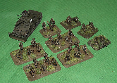 Well Painted 15mm Flames of War US Engineer Platoon with Dozer Sherman