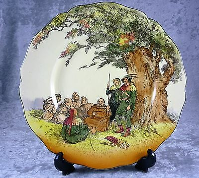 Fabulous Vintage Royal Doulton Plate Under The Greenwood Tree Robin Hood D 6094