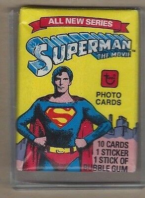 1978 topps superman the movie wax pack sealed unopened
