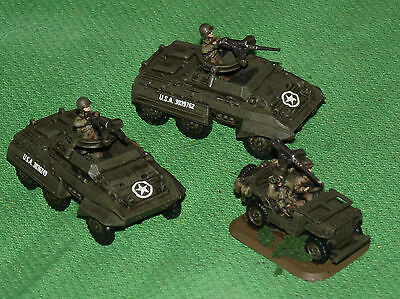 Well Painted 15mm Flames of War US Tank Destroyer Security Section