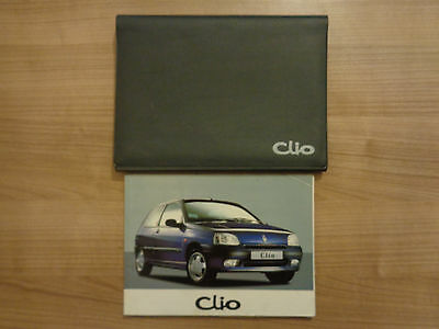 Renault Clio Owners Handbook/Manual and Wallet 94-98