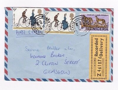 Unusual GB cover  - 10k Nigeria stamp cancelled with Glasgow postmark - 17/183