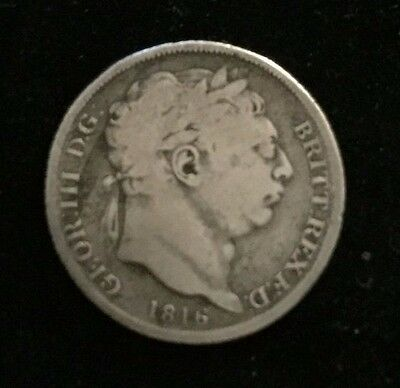 Sixpence Silver George III Great Britain 1816  .925 Silver