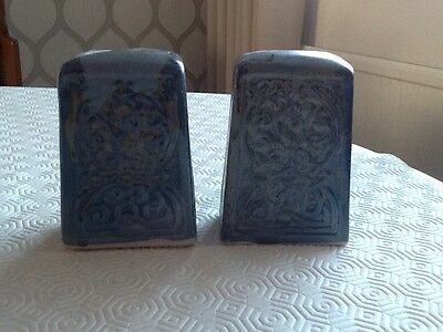 a salt & pepper set by porthmadog pottery