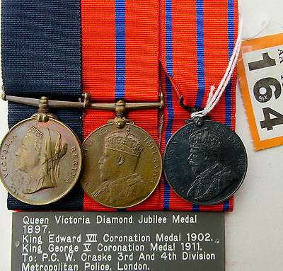 Police Medals set of three