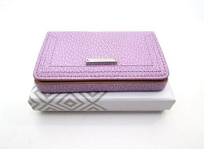 Lodis Stephanie Pebbled Leather Business Card Credit Case ~ Lavender ~ New